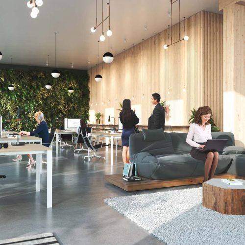 Immeuble, VUE MULTIPLE OFFICE 03 - Woodwork